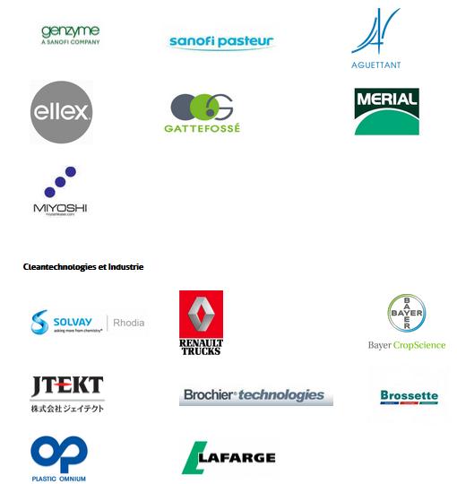 Les entreprises ci-dessous ont déjà fait le choix de Lyon pour leur implantation. / Source : www.aderly.fr